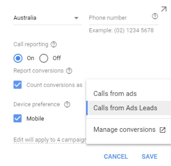 Google Ads - Call Tracking